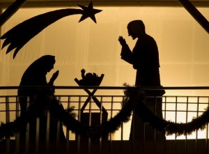 Silhouette of a Christmas Crib